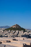 View of Athens and Mount Lycabettus, Greece. Royalty Free Stock Photography