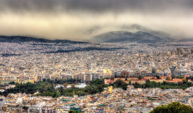 View of Athens from Mount Lycabettus Royalty Free Stock Photos
