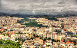 View of Athens from Mount Lycabettus Royalty Free Stock Images