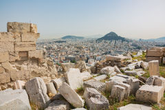 View of Athens with Mount Lycabettus Stock Photos