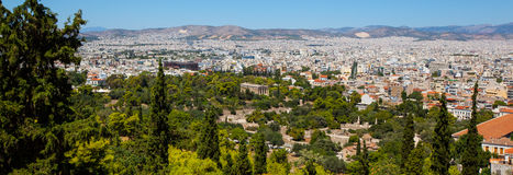 View of athens. Panoramic view to the city, athens, greece Stock Photos