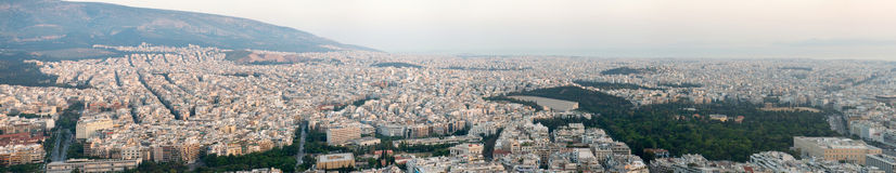View of Athens at sunset Royalty Free Stock Photo