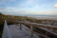 View of Atlantic ocean from the beach. Stock Photo