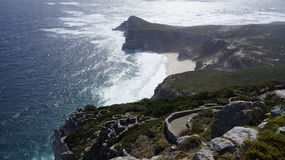 View of the Atlantic Ocean from the Cape of Good Hope, Cape Town. South Africa Royalty Free Stock Image