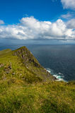 View of the Atlantic ocean from a hill at Keem bay, Achill, Co. Mayo stock photo