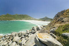 View of Atlantic Ocean and Hout Bay, Southern Cape Peninsula, outside of Cape Town, South Africa Stock Photos