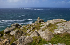 View of the Atlantic Ocean from Land's End royalty free stock image