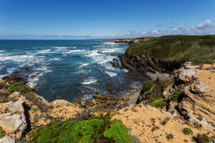 View of the Atlantic sea. Portugal. Stock Images