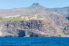 View from the atlantic to the island La Gomera Stock Image