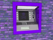 View of ATM in an isolated white background royalty free stock images