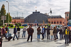 View on the Atocha Old Train Station in Madrid Royalty Free Stock Photography