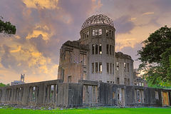 The atomic bomb dome in Hiroshima Japan. View on the atomic bomb dome in Hiroshima Japan Stock Photos