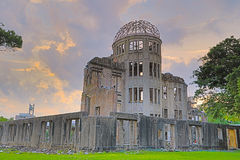Atomic bomb dome in Hiroshima Japan. View on the atomic bomb dome in Hiroshima Japan Stock Images