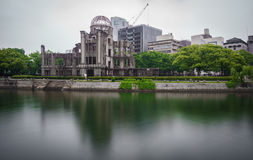 View on the atomic bomb dome in Hiroshima Japan Stock Photography