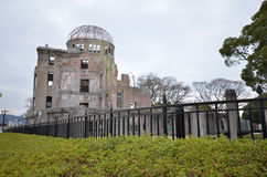 View on the atomic bomb dome in Hiroshima Royalty Free Stock Photos