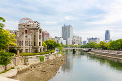 View on the atomic bomb dome in Hiroshima Japan. UNESCO World Heritage Site Royalty Free Stock Images