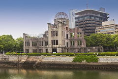 View on the atomic bomb dome in Hiroshima Japan. UNESCO World Heritage Site on May 27,2016 Royalty Free Stock Photography