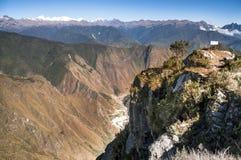 View atop of Machu Picchu Mountain peak Royalty Free Stock Image