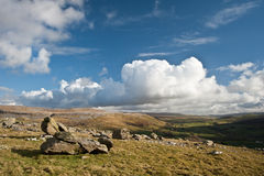 View from atop Norber Erratics Royalty Free Stock Images
