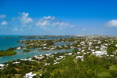 Areal Panoramic view of Bermuda royalty free stock images