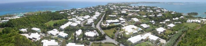 Areal Panoramic view of Bermuda stock images