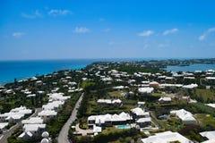 Areal Panoramic view of Bermuda stock image