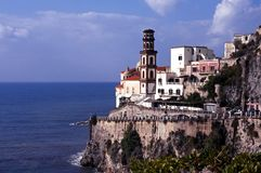 View of Atrani, Amalfi Coast, Italy. Royalty Free Stock Photos