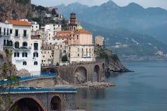 View Atrani village from Amalfi peninsula Italy Stock Images