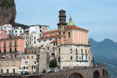 View Atrani village from Amalfi peninsula Italy Royalty Free Stock Photography