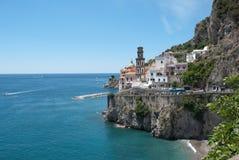 View Atrani village from Amalfi peninsula Italy Royalty Free Stock Image