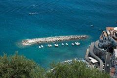 View Atrani village from Amalfi peninsula Italy Royalty Free Stock Photo