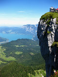 View of the atter see. A photo of a lakes between mountains (alps stock image