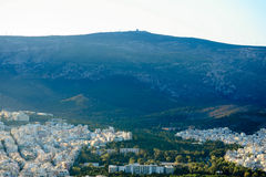 Athens. View of the ancient city of Athens in Greece Royalty Free Stock Images