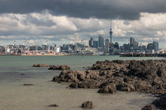 View of Auckland CBD from Devonport Royalty Free Stock Photography