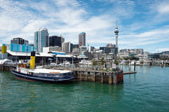 View of Auckland city skyline from Ports of Auckland Stock Photo