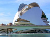 View of the auditorium in the city of arts and sciences of valencia stock images