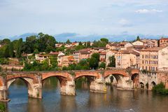 View of the August bridge in Albi, France Stock Photography