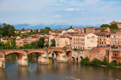 View of the August bridge in Albi, France Stock Photo
