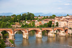 View of the August bridge in Albi, France Royalty Free Stock Photo