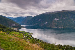 View at Aurland, Norway Stock Photos
