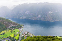 View of the Aurlandsfjord landscape, Norway Royalty Free Stock Photo
