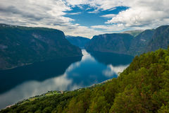 View of Aurlandsfjord, Norway stock image