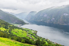 View of the Aurlandsfjord, Norway Royalty Free Stock Photo