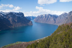 View of  Aurlandsfjorden, Norway Stock Photo
