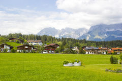 View of the austrian alps and Oberndorf in Tirol, Au Royalty Free Stock Images