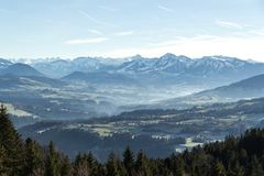 View of the Austrian Alps Stock Photography