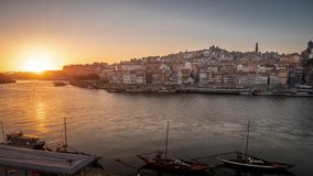 Evening mood in Porto, Portugal stock photos