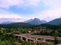 View of autobahn in Austria Royalty Free Stock Images