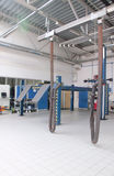 View of automobile repair shop Stock Images