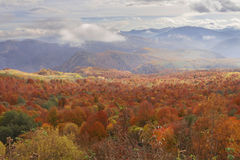 View of autumn Caucasus mountain Royalty Free Stock Photos